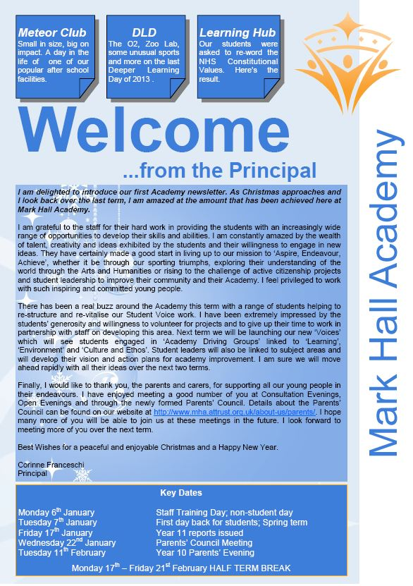 Academy Newsletter Dec 2013
